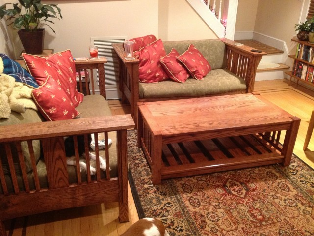 Woodworking – Couches and Coffee Table